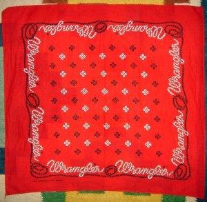 画像1: ビンテージ Wrangler ラングラー bandanna バンダナ USA製 縄文字