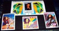 ボブ・マーリー 生誕50周年記念切手 Jamaica 50th Anniversary of the Birth of Bob Marley Stamps