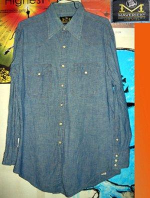 画像1: BLUE BELL MAVERICK シャンブレー シャツ ウエスタンシャツ