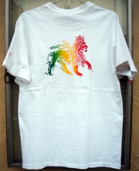 Jah Lion Patchwork Pocket (White)