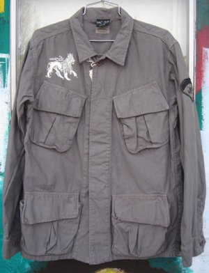画像1: Jah Lion Military Shirts Jacket