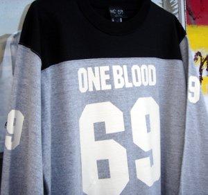 画像1: One Blood 69 (3/4 Sleeve Hockey Tee)