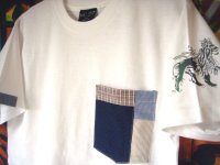 Patchwork Pocket (White)  S/S Tee