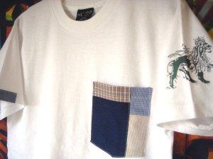 画像1: Patchwork Pocket (White)  S/S Tee