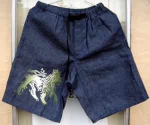 画像1: Jah Lion Denim Climbing Short Pants