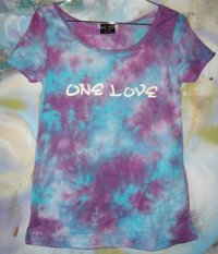 One Love Tie-dye Cut and Sewn タイダイ Tシャツ