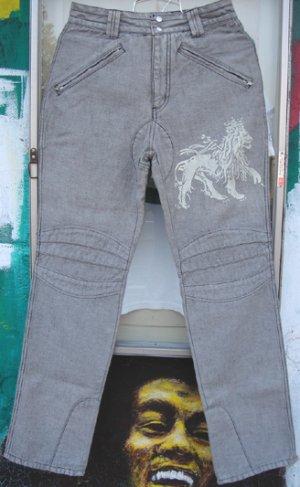 画像1: Jah Lion Denim Riders Pants ライダースパンツ