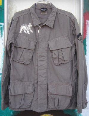 画像1: Jah Lion Military Shirts Jacket
